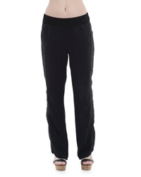 Xcvi Sirena Straight Leg Twill Pants Black