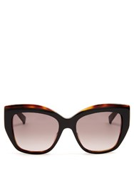 Max Mara Prism Acetate Sunglasses Black Brown