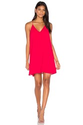 Three Eighty Two Tanner Slip Mini Dress Red