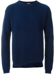 Raf Simons Knitted Destroyed Jumper Blue