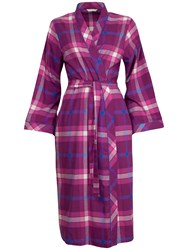 Cyberjammies Checked Lightly Brushed Long Robe Magenta