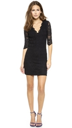 Nightcap Clothing Deep V Victorian Dress Black
