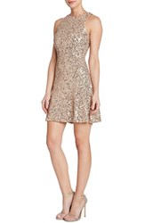 Women's Dress The Population 'Mia' Sequin Cutaway Fit And Flare Dress Nordstrom Exclusive