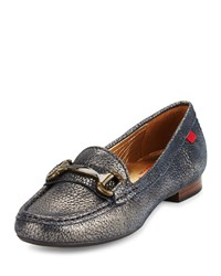 Marc Joseph New York Grand Street Horsebit Leather Loafer Navy