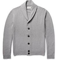 John Smedley Patterson Shawl Collar Merino Wool And Cashmere Blend Cardigan Gray