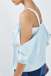 Boutique Polka Dot Off The Shoulder Top By Pale Blue