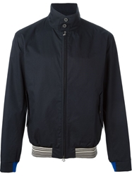 Lanvin High Standing Collar Jacket Blue