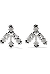 Dannijo Drava Oxidized Silver Plated Swarovski Crystal Earrings