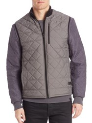 Victorinox Quilted Zipped Vest Grey