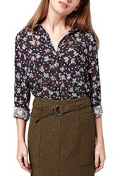 Women's Topshop Floral Print Button Front Shirt