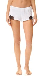 Only Hearts Club Luxe Lace Sleep Shorts White Black