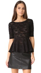 Free People Lace Second Chance Top Black