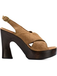Calleen Cordero 'Lamora' Crisscross Sandals Brown