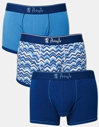 Pringle Trunks In 3 Pack Blue
