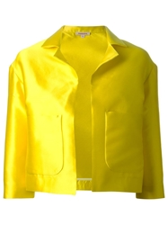 P.A.R.O.S.H. Satin Cropped Jacket Yellow And Orange