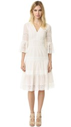Temperley London Bell Sleeve Desdemona Lace Dress White