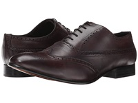 Fitzwell Wing Burgundy Tequila Leather Men's Dress Flat Shoes Brown