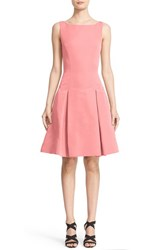 Prabal Gurung Women's Pleated Silk Faille Fit And Flare Dress
