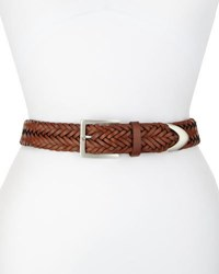 Rag And Bone Braided Leather Belt Saddle Brown