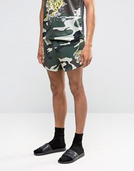 Jaded London Camo Souvenir Shorts Camo Green