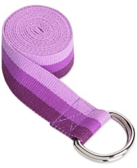 Gaiam Tri Color Purple Yoga Strap