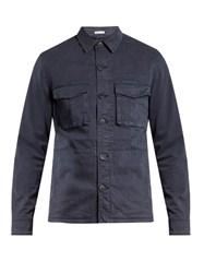 Tomas Maier Cotton Blend Field Jacket Blue