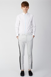 Lad Musician Side Striped Pants Space White Black