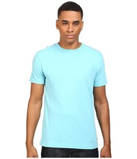 Rvca Label Vintage Wash Tee Maui Blue Men's T Shirt