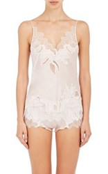 Carine Gilson Women's Georgette Camisole Pink Ivory Pink Ivory