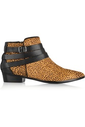 Yosi Samra Cheetah Print Calf Hair And Leather Ankle Boots