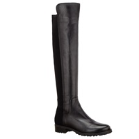 John Lewis Tilde Long Leather Knee Boots Black