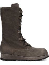 Alexandre Plokhov Lace Up Combat Boots Grey