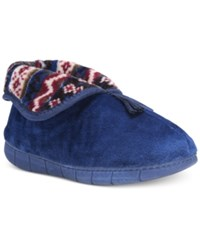 Muk Luks Bootie Slippers Liberty Blue