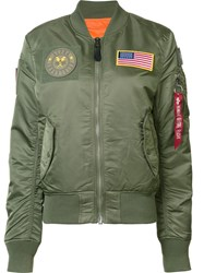 Alpha Industries 'Ma 1 Flex' Jacket Green