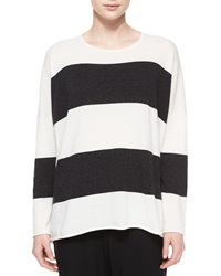 Eskandar Wide Striped Cashmere Sweater