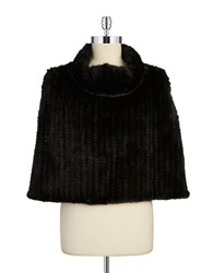 Surell Mink Fur Cape Black