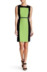 Nine West Crepe Colorblock Dress Multi
