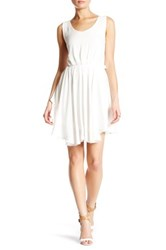 Angie Open Back Dress White