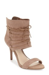 Jessica Simpson Women's 'Madeena' Ghillie Ankle Wrap Sandal Taupe Suede