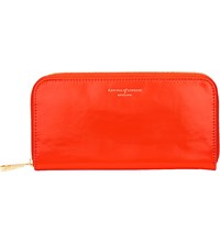 Aspinal Of London Continental Leather Clutch Purse Flame Red
