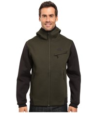 The North Face Thermal 3D Full Zip Hoodie Rosin Green Black Heather Men's Sweatshirt
