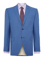Corsivo Bartolo Sb2 Mini Texture Suit Jacket Blue