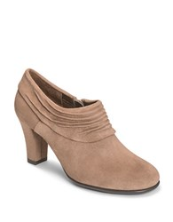 Aerosoles Starring Role Suede Booties Taupe Fabric