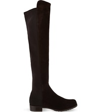 Stuart Weitzman 50 50 Suede Knee High Boots Dark Brown