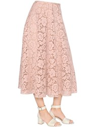 Valentino Cotton Blend Lace Skirt