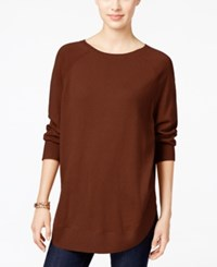 Styleandco. Style Co. Petite Boat Neck Poncho Sweater Only At Macy's Rich Auburn