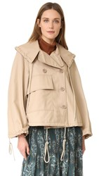 See By Chloe Trench Jacket Straw