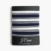 J.Crew Striped Elastic Hair Tie Pack