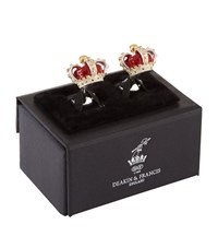 Deakin And Francis Enamel Crown Cufflinks Unisex Silver