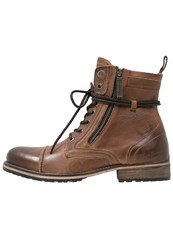 Pepe Jeans Melting Laceup Boots Tan
